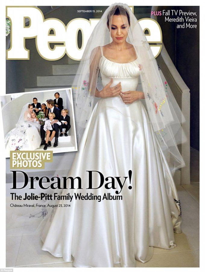 Angelina Jolie robe mariage