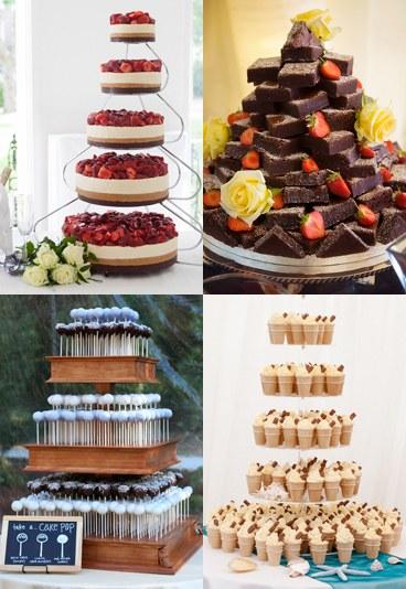 alternatives des gâteau de mariage