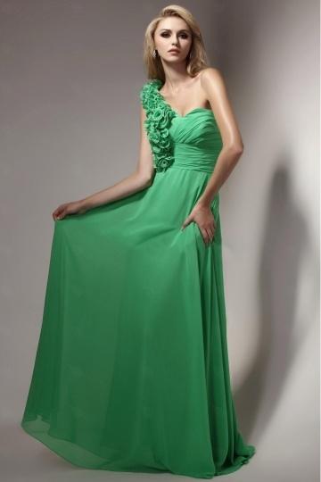 robe-verte-emeraude-longue-asymetrique-fleurie