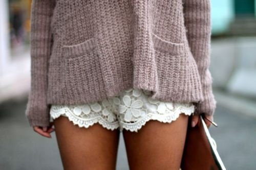 simplyvickysummer white - lace shorts