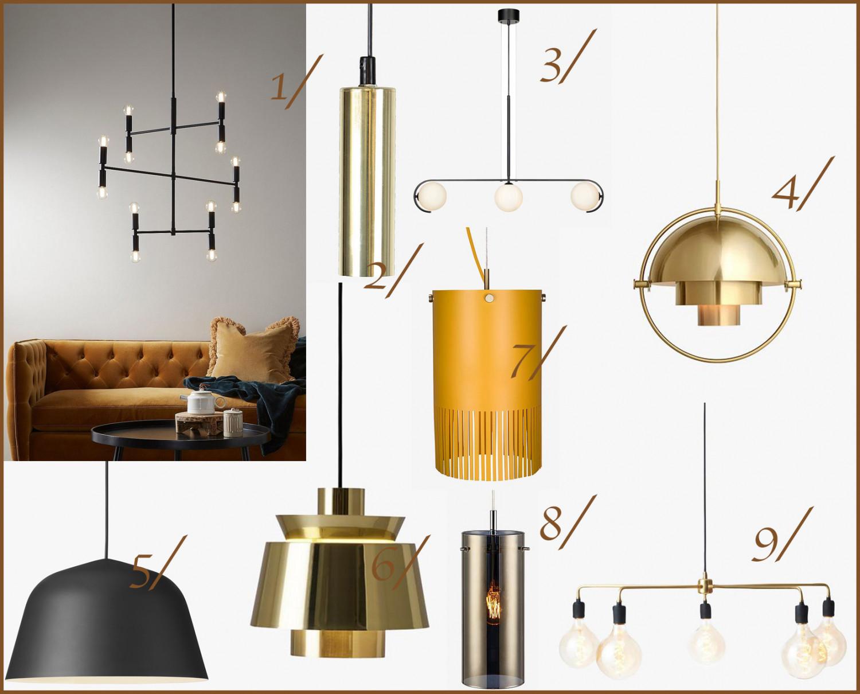 Picture of: Smukke Industrielle Pendler Loftlamper Bolig Guldlog