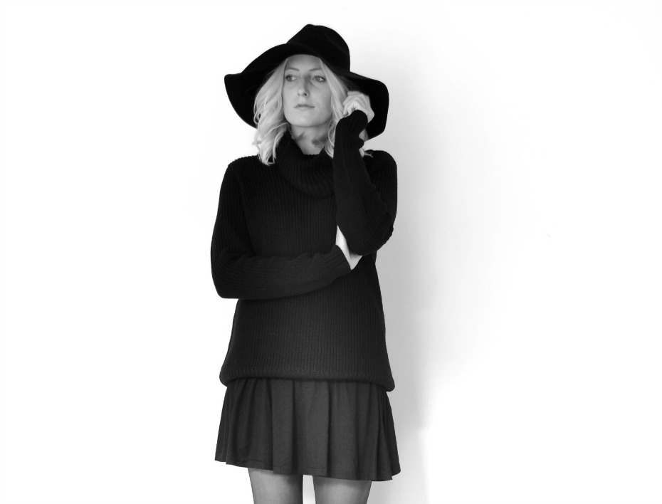 Rope - Saks Fifth Avenue Black Hat - H&M Chunky knit1
