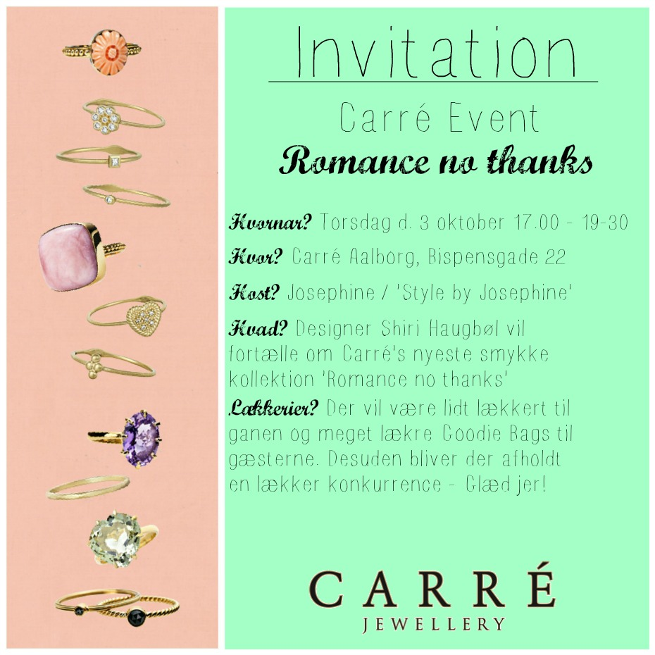 Carré invitaion