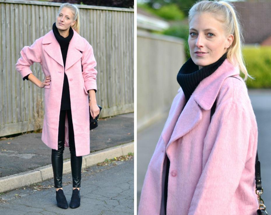 asos pink coat1