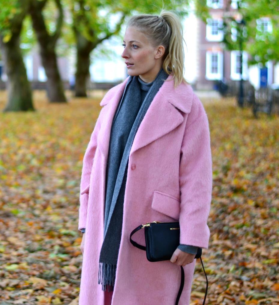 asos pink coat_michael kors trio bag_benetton turtleneck3