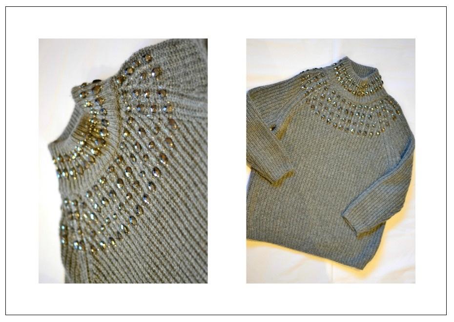 Zara embellished turtle neck1