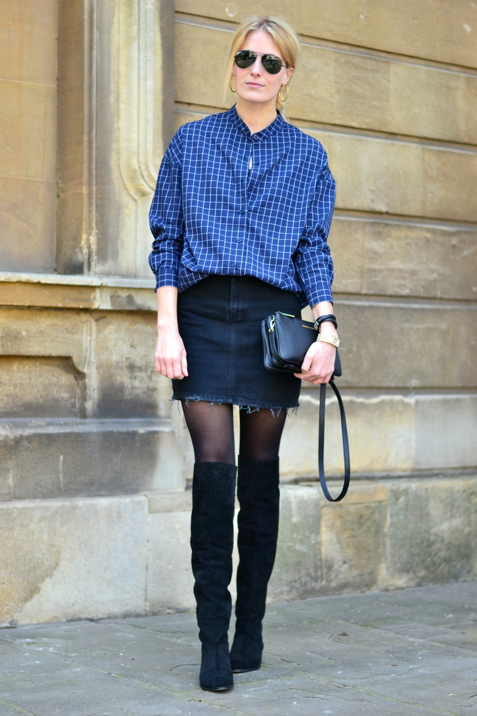 front row shirt_knee high boots