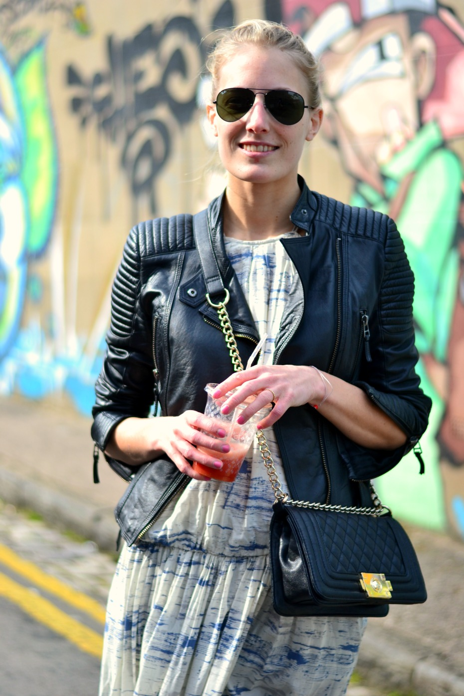 moxy copenhagen dress_chanel espadrilles_zara leather jacket1