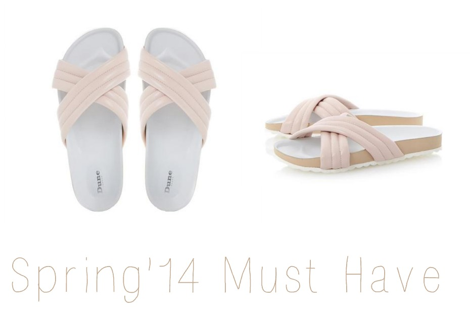 dune padded sandals