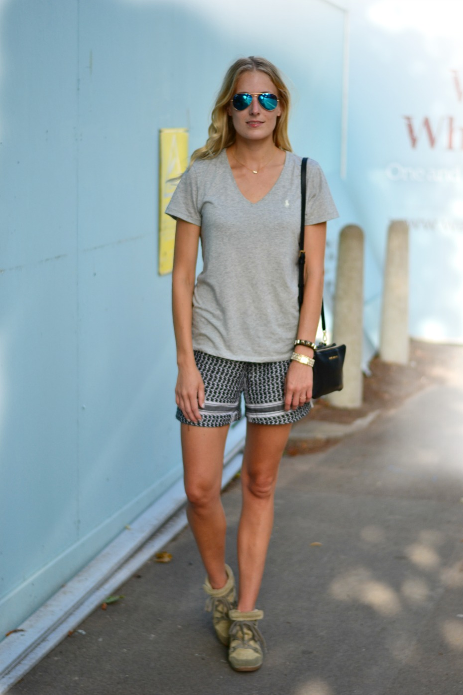ralph lauren t-shirt_diy partisaner shorts_isabel marant bluebel