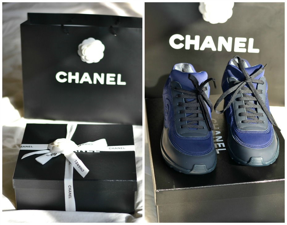 CHANEL trainers_chanel sneakers navi blue.4