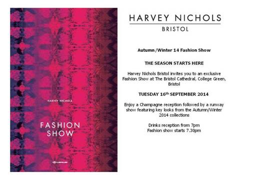 Harvey Nichols Bristol fashion show