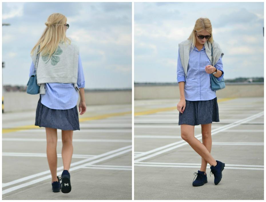chanel trainers_ganni skirt_pieszak shirt_dkny denim bag.3