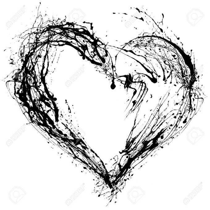 12069515-abstract-valentine-black-heart-on-white-background-stock-photo
