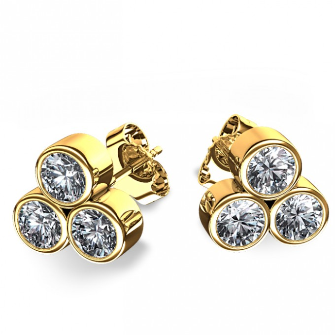 456141_three_stone_bezel_set_diamond_stud_earrings_angle