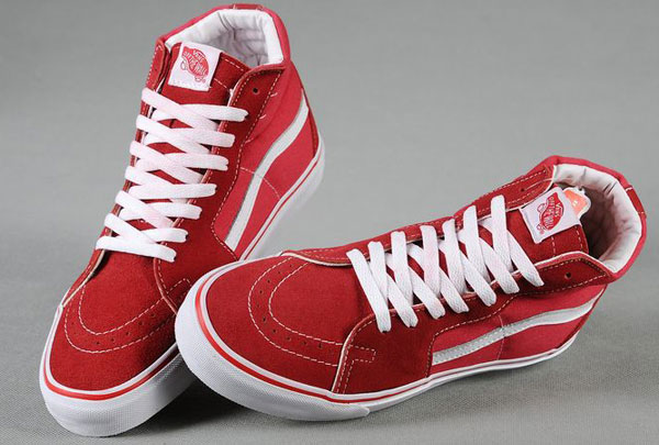 Vans_Off_the_Wall_Old_Skool_Sk8-Hi_Skateboard_High_Tops_Red_Suede_Sneakers_01