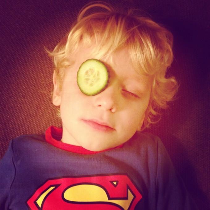 Selv Supermand har brug for en delvis ansigtsbehandling...