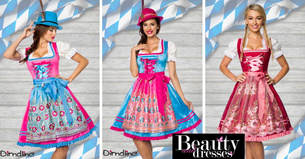 Køb Tyrolerkjoler i anderledes design og feminin stil online her   Høj kvalitet og fuldstændig fantastisk look   Tyrolerkjoler til din temafest.