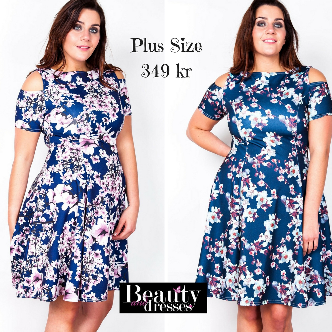 Kjoler med blomster i størrelse plus size | Shop her