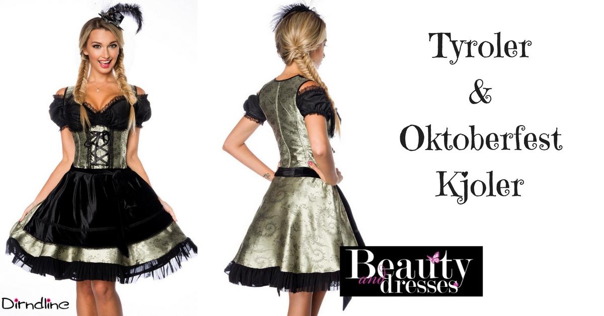 Virkelig smuk Tyrolerkjole og Oktoberfest kjole i feminin design