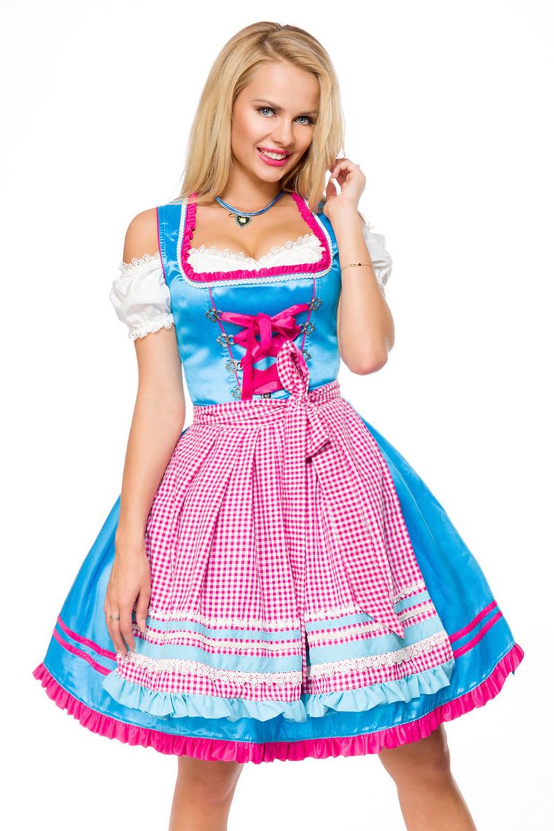 Tyroler kjole i smuk farve og anderledes design | Køb tyroler kjoler her
