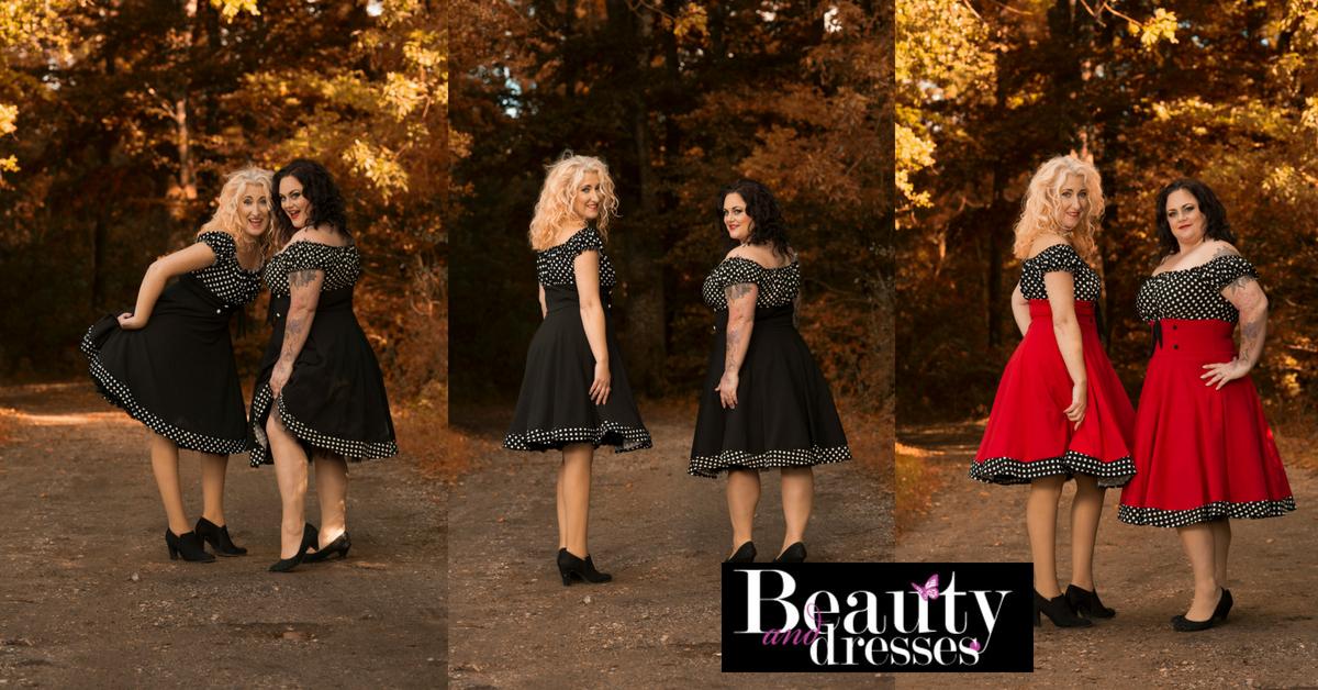 Rockabilly kjoler fra str. 36 til 58