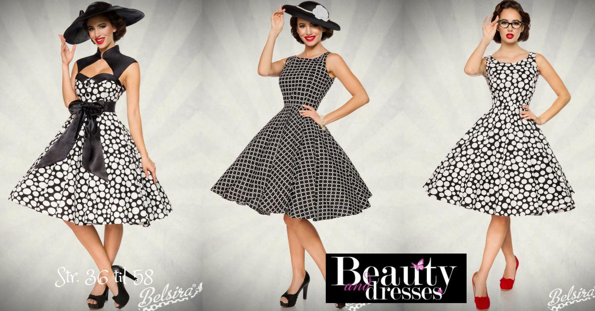 Rockabilly kjoler med flotte prikker