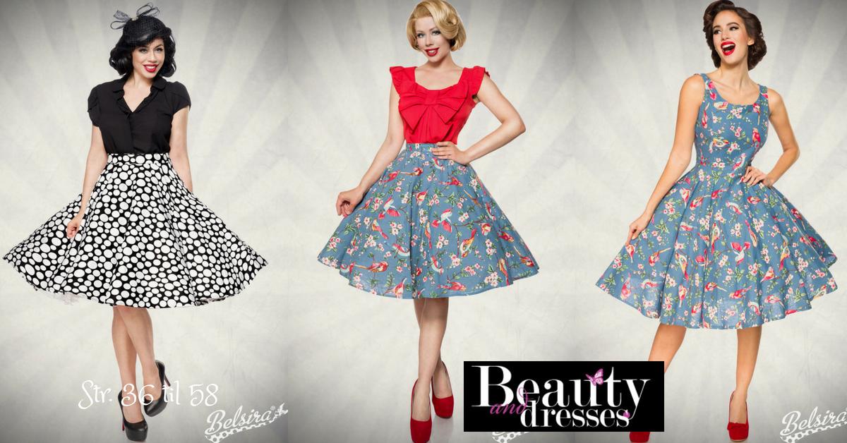 Vintage kjoler og nederdele i flotte farver