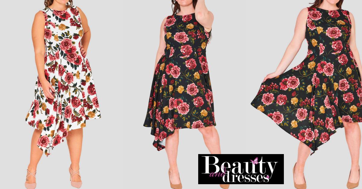 Plus size kjoler med blomster | Plus size sommerkjoler