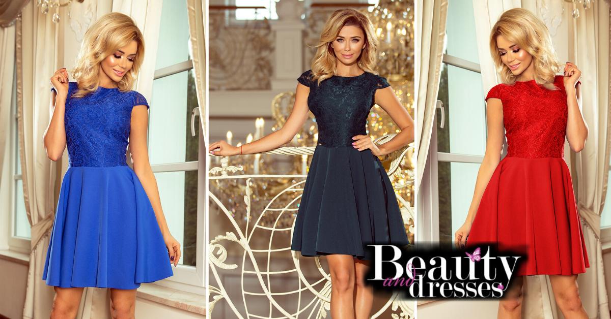 Smukke korte kjoler med yndige blonder øverst | Blondekjoler
