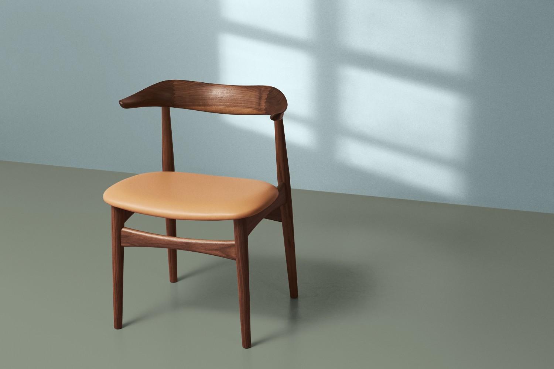 2405058-warmnordic-furniture-cowhorn-diningchair-walnut-oiled-seat-nature-vgreen-blue