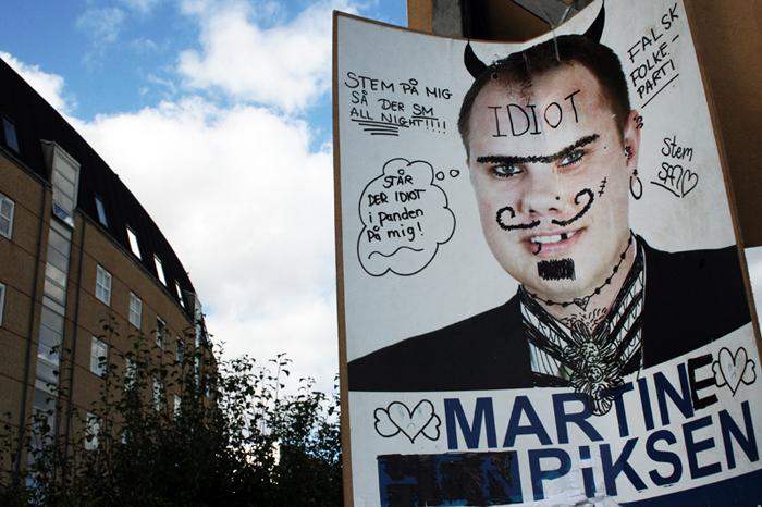 Valgplakat Englandsvej Urbanplanen Dansk Folkeparti Amager amarOrama