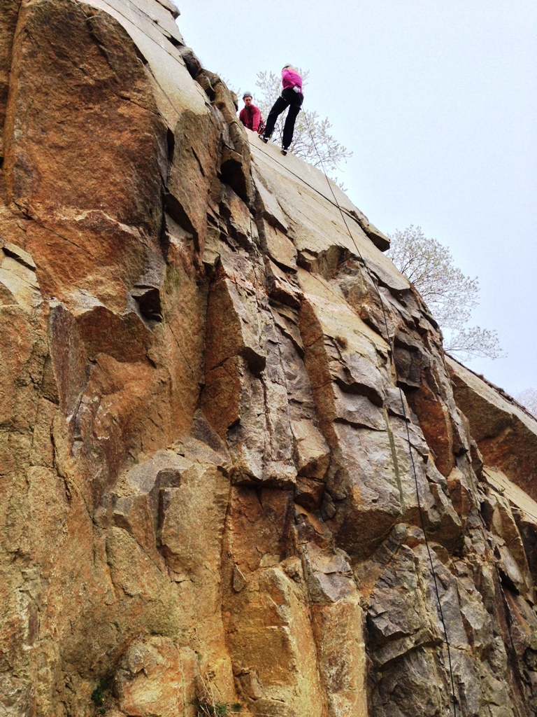 Vang Granitbrud, rapelling på Bornholm