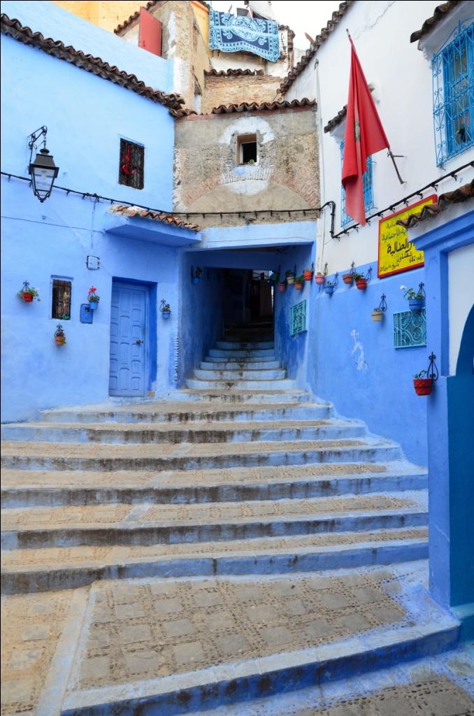 Trappe i Chefshaouen i Marokko