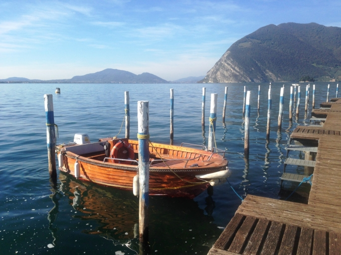 Robåd i Iseosøen, Italien. Foto: Karen Seneca
