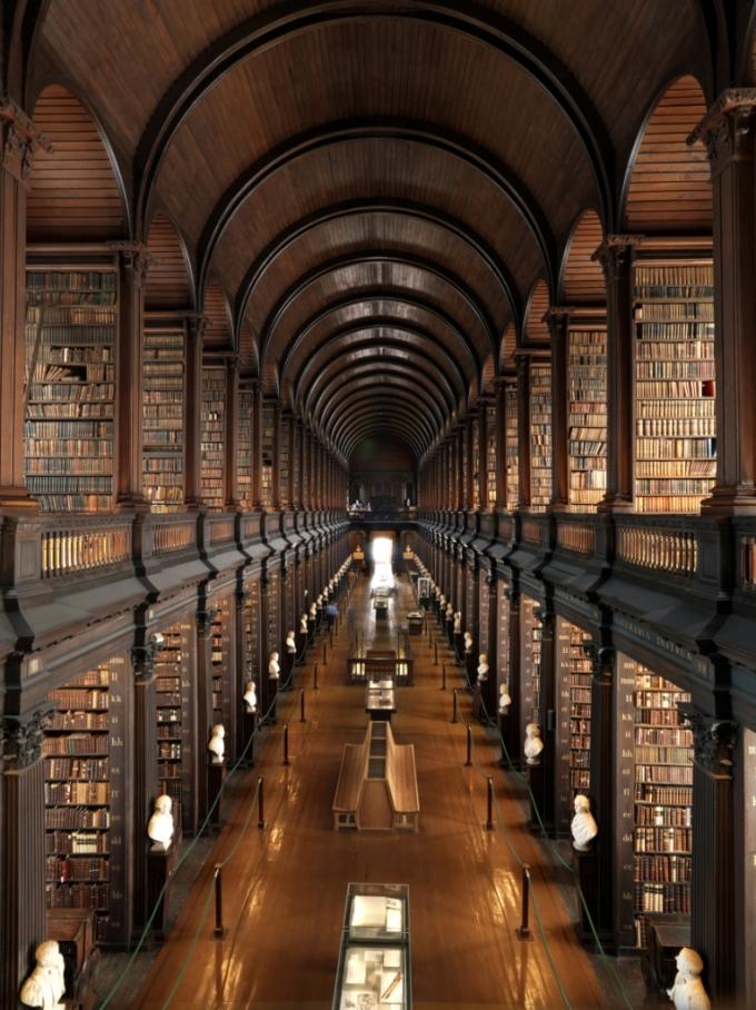 Trinity Collages bibliotek. Foto af Chris Hill
