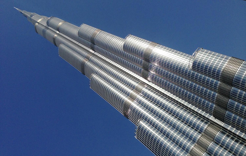 Toppen af Abu Khalifa i Dubai