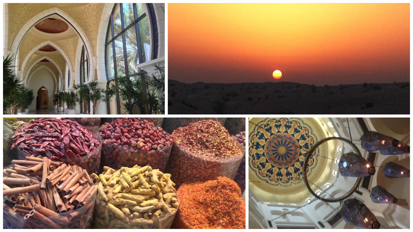 Collage med fotos fra Dubai