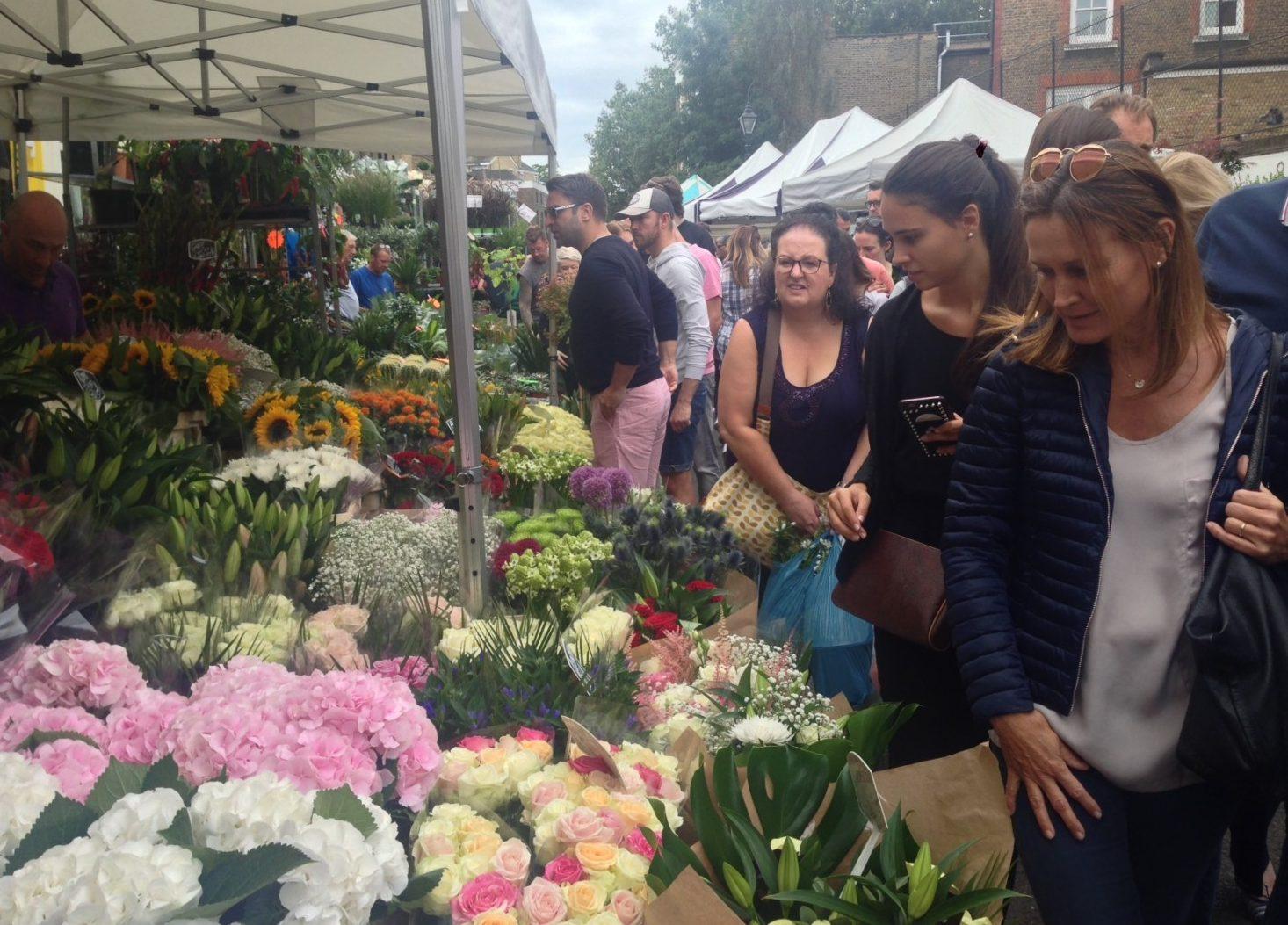 Columbia Road Flower market som er gratis i London