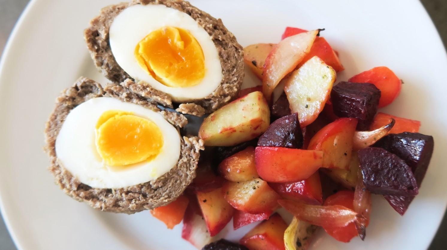 Skotske æg i ovn