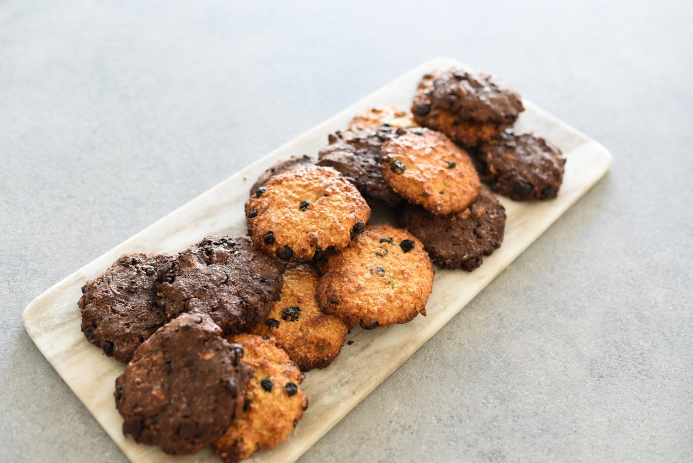Sunde cookies med blåbær