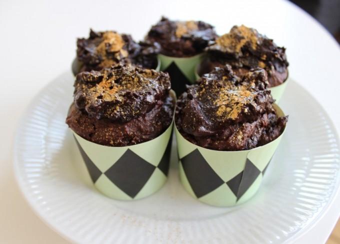 Chokolade muffins på den sunde måde