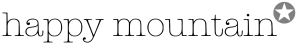 happy mountain logo black:grey