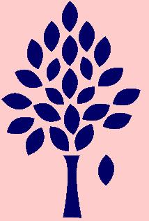 tree navy on peach