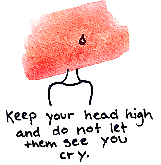 keep your head up and don't let them see you cry - redigeret