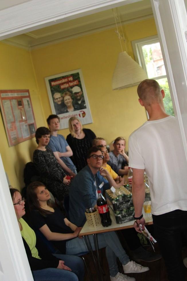 Holder gejsttale til de frivillige